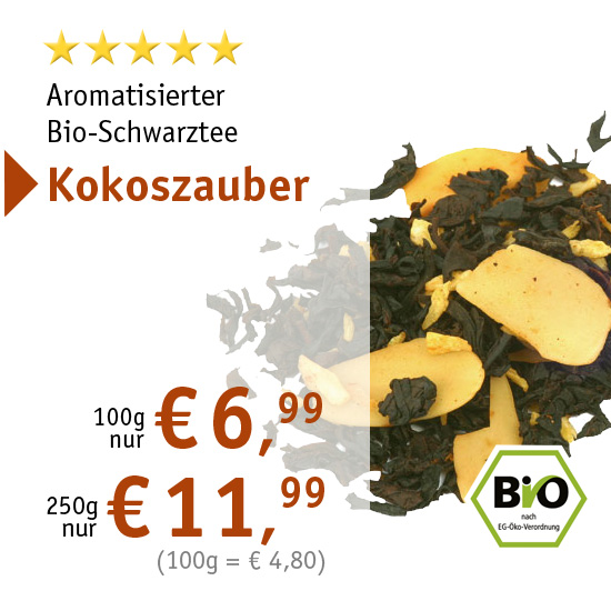 Aromatisierter Bio-Schwarztee Kokoszauber - 7534 - ab € 6,99