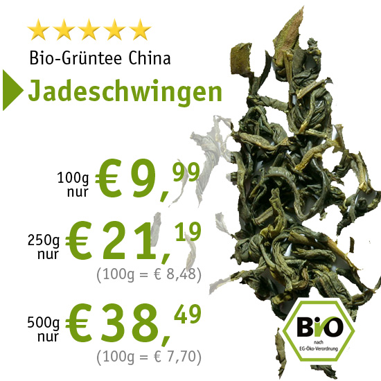 Bio-Grüntee China Jadeschwingen - ab € 9,99
