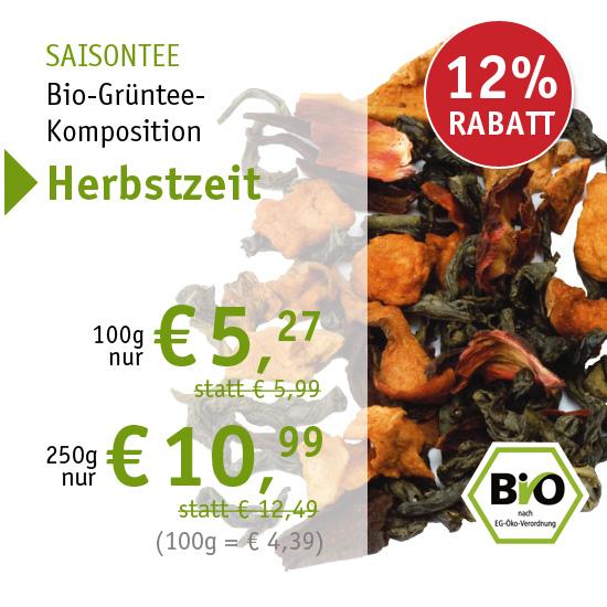 Saisontee - Bio-Grüntee-Komposition - Herbstzeit - 690 - ab € 5,29 mit 12% Rabatt