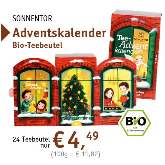 SONNENTOR Adventskalender Bio-Teebeutel - 34065 - nur € 4,49