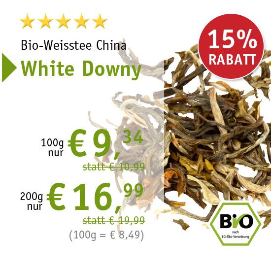 Bio-Weisstee China White Downy - 6358 - ab € 9,34 mit 15% Rabatt