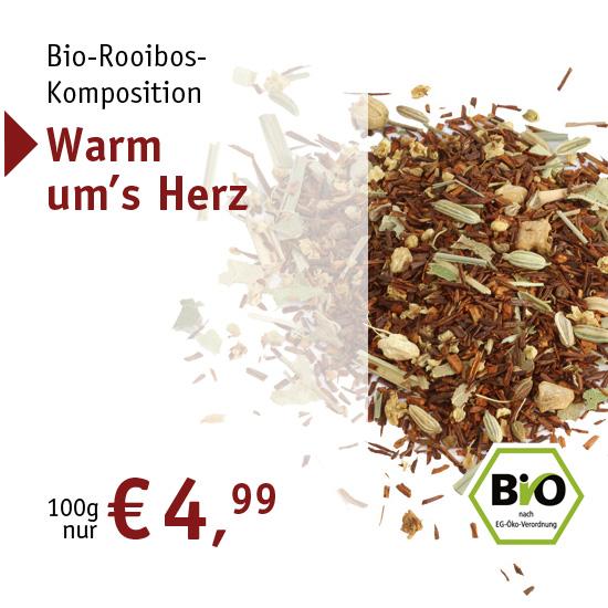 Bio-Rooibos-Komposition - Warm um's Herz - 2457 - ab € 4,99