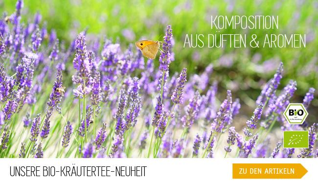 Komposition aus Düften und Aromen - Unsere Bio-Kräutertee-Neuheit - Duftgarten