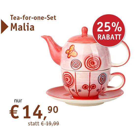 Tea-for-one-Set Malia - 80177 - nur 14,90 mit 25% Rabatt