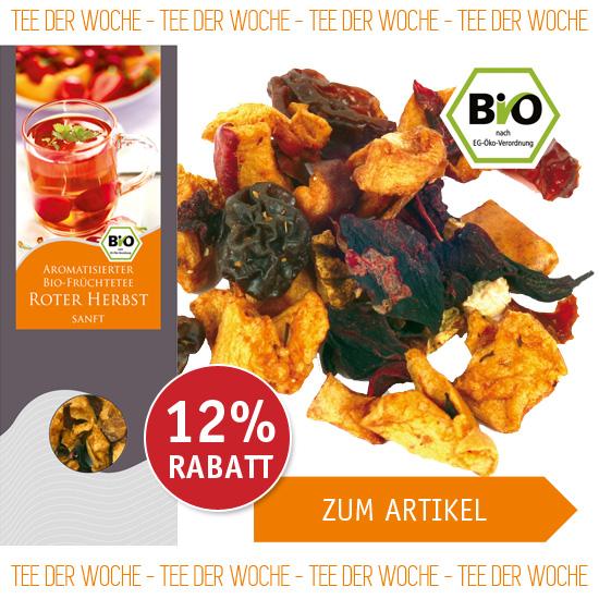 Tee der Woche - Aromatisierter Bio-Früchtetee Roter Herbst sanft - 1532 - ab € 5,27 mit 12% Rabatt