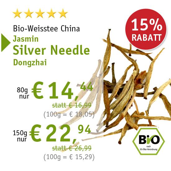 Bio-Weisstee China Jasmin Silver Needle Dongzhai - 6351 - ab € 14,44 mit 15% Rabatt