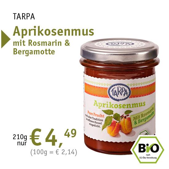 TARPA Aprikosenmus mit Rosmarin und Bergamotte - 34984 - 210g nur 4,49