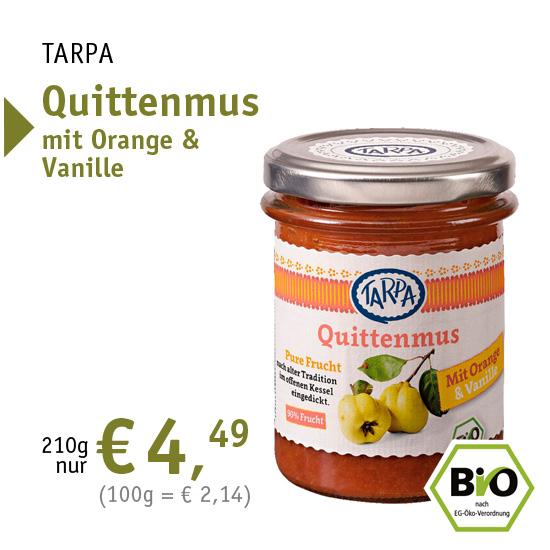 TARPA Quittenmus mit Orange und Vanille - 34987 - 210g nur 4,49