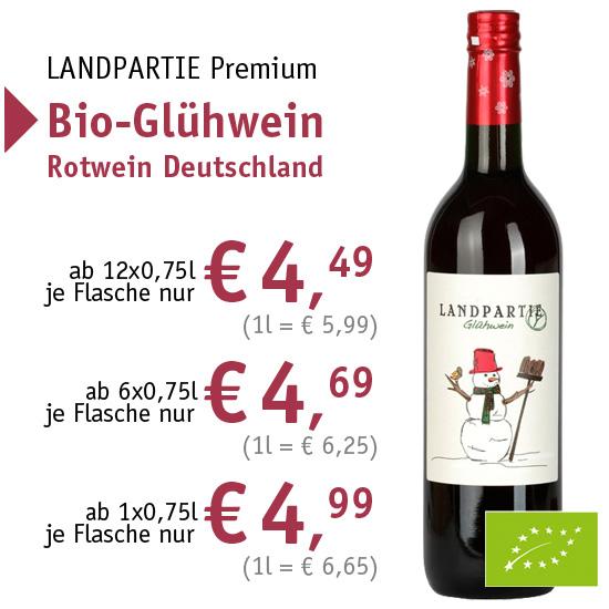 LANDPARTIE Premium - Bio-Glühwein Rotwein Deutschland - 90665 - ab € 4,49