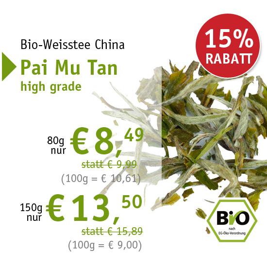 Bio-Weisstee China Pai Mu Tan high grade - 6364 - ab € 8,49 mit 15% Rabatt