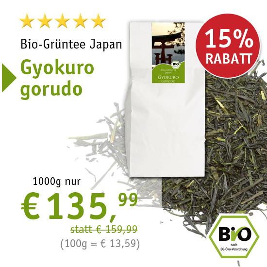 Bio-Grünteee Japan Gyokuro gorudo - 1000g nur € 135,99 - 6371