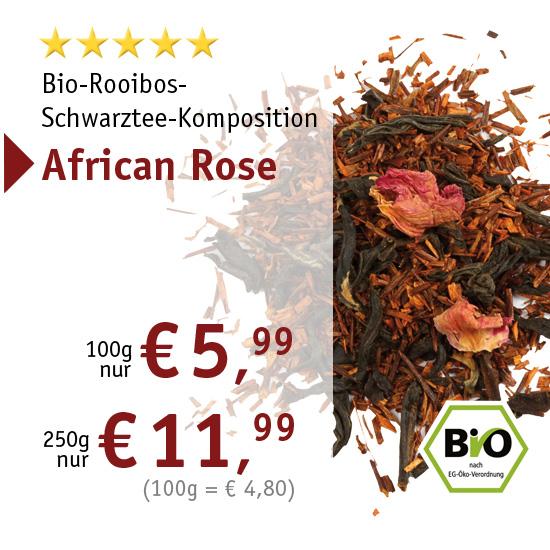 Bio-Rooibos-Schwarztee-Komposition - African Rose - 2460 - ab € 5,99