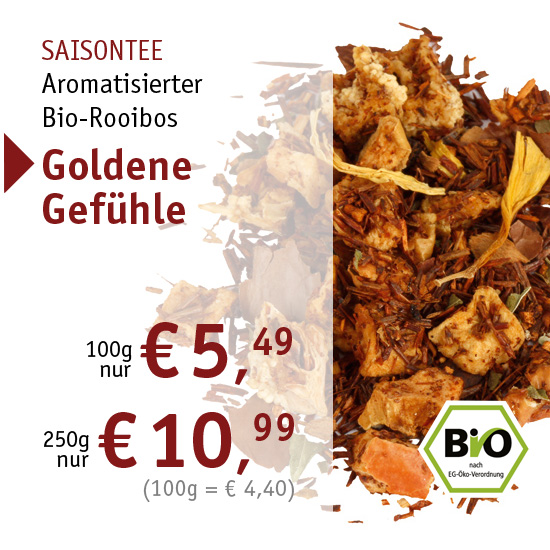 Saisontee - aromatisierter Bio-Rooibos - Goldene Gefühle - 2449 - ab € 5,49