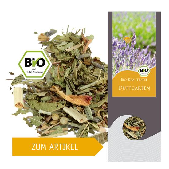 Zum Artikel - 28136 - Bio-Kräuterteemischung Duftgarten