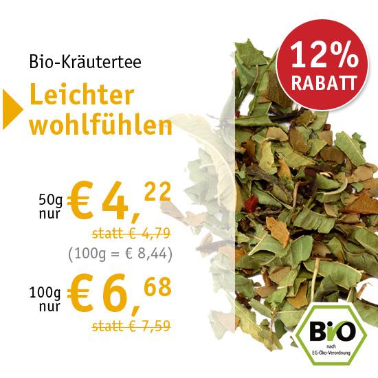 Bio-Kräutertee Leichter wohlfühlen - ab 50g nur € 4,22 - 28123